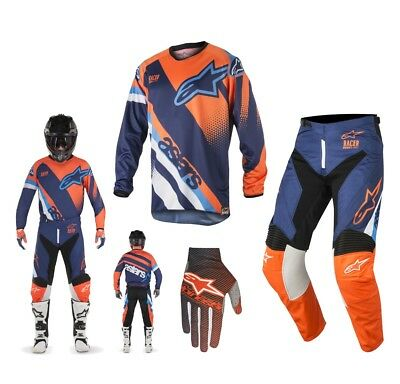 Alpinestars Race Supermatic Enduro Combo 2018 blau orange
