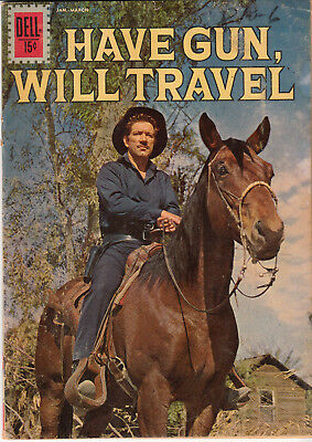 HAVE GUN, WILL TRAVEL #12 (DELL 1962)  * RICHARD BOONE photo cover *