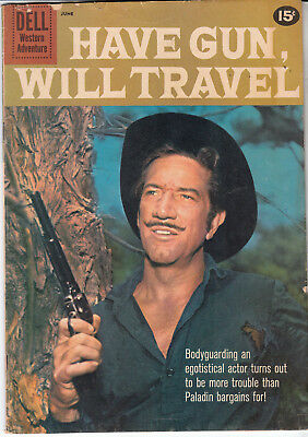 HAVE GUN, WILL TRAVEL #12 (DELL 1961)  * RICHARD BOONE photo cover *