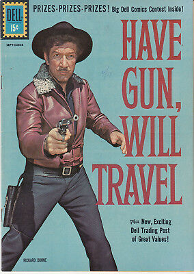 HAVE GUN, WILL TRAVEL #10 (DELL 1961)  * RICHARD BOONE photo cover *