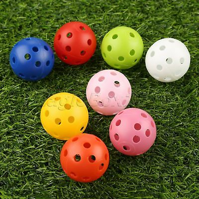 Hollow Perforated Design Plastic Training Tennis Golf Balls Dia 41mm /1.61 inch