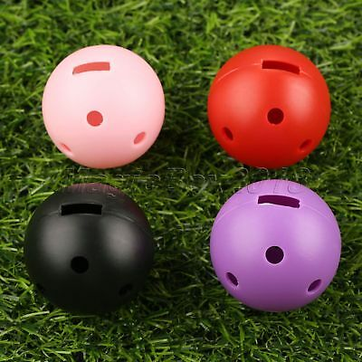 10Pcs Hollow Perforated Plastic Golf Balls Practice Training Balls Size Dia 44mm