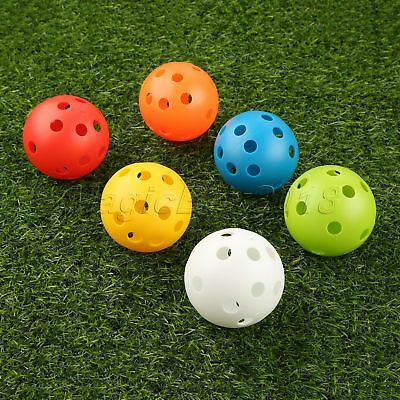 10Pcs Practice Airflow Hollow Perforated Plastic Golf Balls Training Balls 72mm