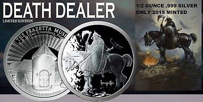 1/2 Oz Silver Coin Frank Frazetta Death Dealer Museum Edition #coa 2015 Minted