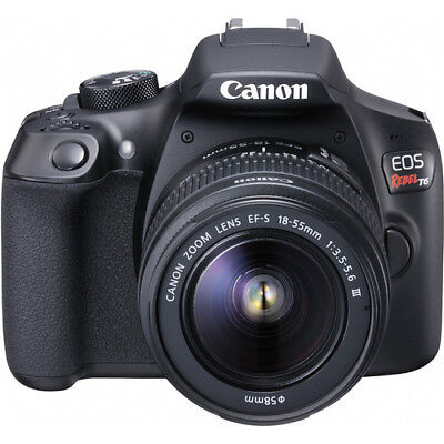 NEW Canon EOS Rebel T6 Digital SLR Camera Kit with EF-S 18-55mm and EF 75-300m