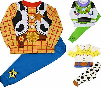 Kids Boys Girls Disney Toy Story Buzz Lightyear and Woody Pyjamas Fancy Dress Pj