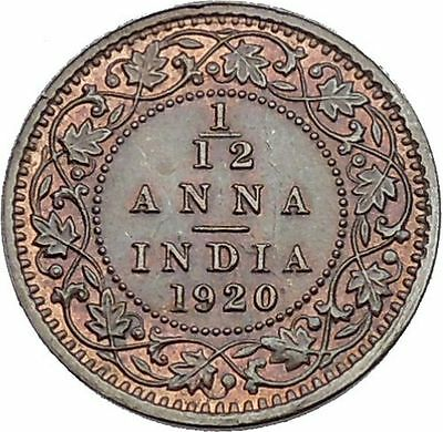1920 King GEORGE V of United Kingdom as EMPEROR of British INDIA Coin i45286