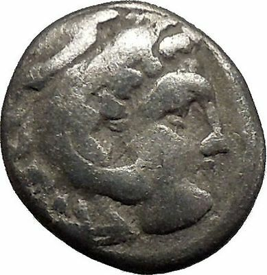 ALEXANDER III The GREAT 320BC Ancient Silver Greek Coin Half nude ZEUS i44239