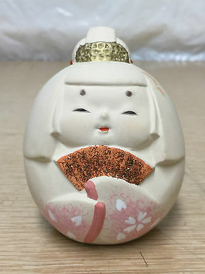 Beautiful Vintage Japanese Japan Asian Geisha Girl Pottery Clay Ceramic Bell