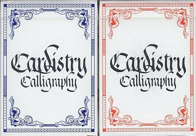 Cardistry Calligraphy 2 Deck Set Playing Cards Poker Size by Bomb Magic Limited