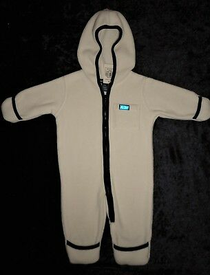 Ralph Lauren NWT White Fleece Baby Boy or Girl Hooded Romper Jumpsuit 3 6 Months