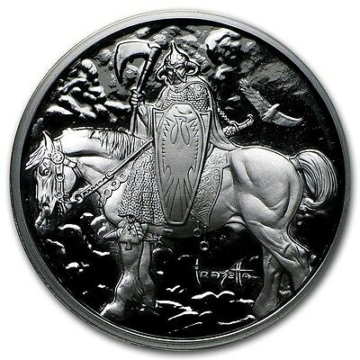 1~Oz .999 Silver Proof ~ Frank Frazetta's ~ Death  Dealer ~Numbered~ Coa ~$46.88