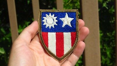 WWII US Air Corps CBI Shoulder Patch Regulation Issue China Burma India Army WW2