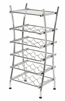 HOME Wine Rack with Glass Shelf - Metal. From the Official Argos Shop on ebay