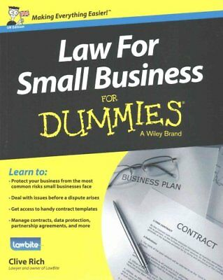 Law for Small Business For Dummies by Clive Rich 9781118970461 (Paperback, 2015)