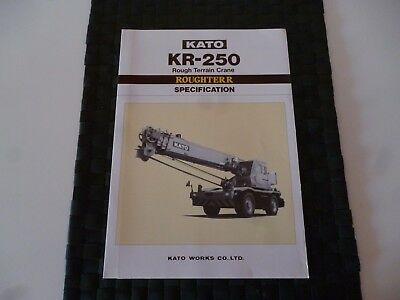 Kato Kr 250 Rough Terrain Crane Specification Leaflet/pamphlet *as Pictures*