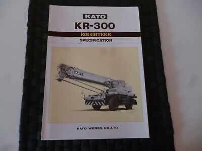 Kato Kr 300 Rough Terrain Crane Specification Leaflet/pamphlet *as Pictures*