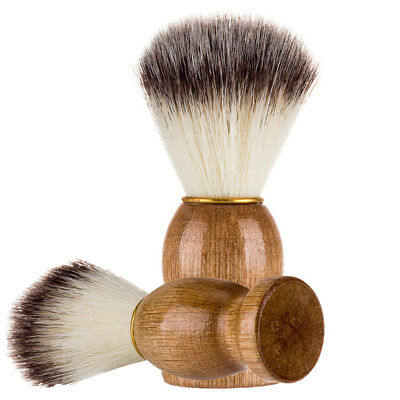 Men Shaving Bear Brush Hair Shave Wood Best Badger Handle Barber Razor Tool 1PC