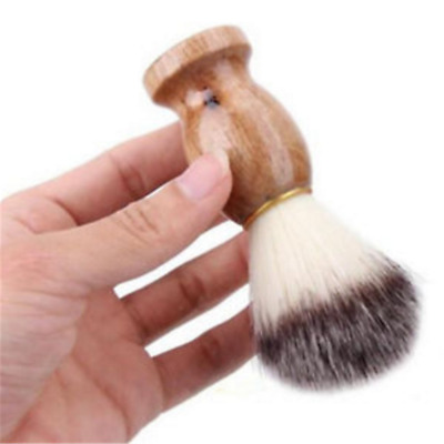 1PC Men Shaving Bear Brush Best Badger Hair Shave Wood Handle Razor Barber Tool