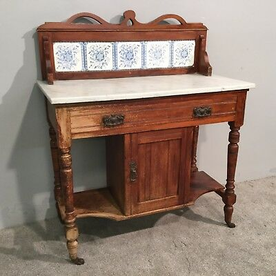 Antique Victorian Solid Mahogany Occasional Sideboard Wash Stand Cabinet Table