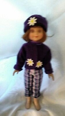 Purple Jacket and matching Hat for Betsy by MGT Designs