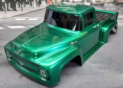 '56 Ford F-100 Custom Painted 1/8 RC Monster Truck Body For T/E-maxx,Revo,MGT