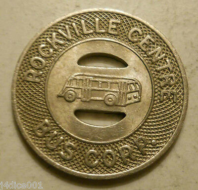Rockville Centre Bus Corp.  (New York) transit token - NY785A
