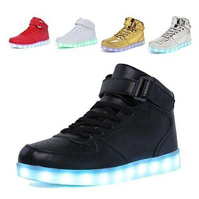 CIOR High Top Led Light Up Shoes 11 Colors Flashing Rechargeable Sneakers for