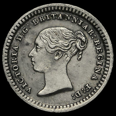 1843 Queen Victoria Young Head Silver Three-Halfpence, EF
