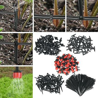 Black Micro Drip Irrigation System Tee Joint Dripper Plant Watering Durable B2Y8
