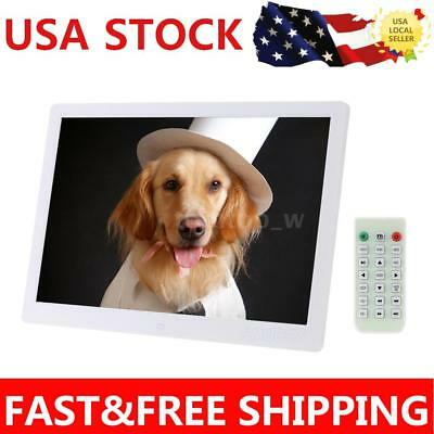 """15.6"""" HD LED Digital Photo Picture Frame MP3/4 Movie Player+Remote Control S2C7"""