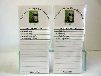 New Tibetan Terrier Magnetic Refrigerator List Pad Set of 2 Pads Terriers