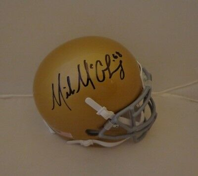 Mike McGlinchey signed Notre Dame Fighting Irish mini helmet autographed