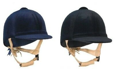 2f1fbc37809 Champion CPX3000 Delux Velvet Riding Hat With Leather Harness In Navy Or  Black