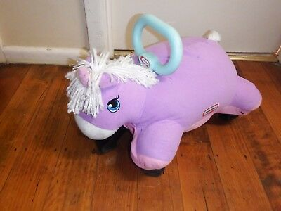 LITTLE TIKES Unicorn  Pillow Racer Ride On Toy 18~36 Mth Age Good Condition
