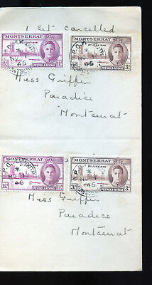 Vintage 1946 Cover  to Montserrat GPO Plymouth BL1305