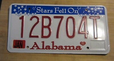 "1999 Alabama ""stars Fell On"" License Plate Expired 12B 704T"