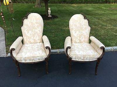 Pair Of Beautiful Ornate Style Parlor Chairs