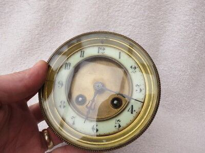 Antique French Japy Striking Clock Movement, Dial, And Hands