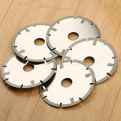 5X Diamond Cutting Saw Blade Wheel Disc Grinder Polishing Grit60 Coarse 100mm 4""