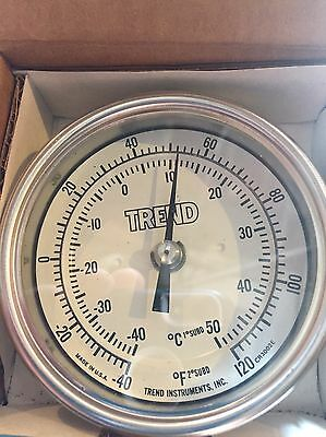 """Trend Industrial Thermometer 3"""" Face- -40 To 120 CR 3002"""