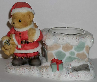 Cherished Teddies Santa Votive Candle Holder NEW # 118319 Carlton Cards Exclus.