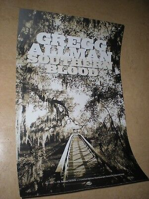POSTER by GREGG ALLMAN southern blood For the bands tour album cd *