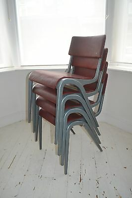 STUNNING SET 4 VINTAGE JAMES LEANARD DINING CHAIRS - 1950's