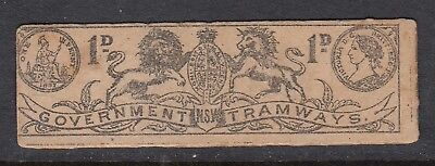 GOVERNMENT TRAMWAYS 1d TICKET