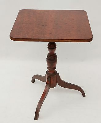 Antique Mahogany/burl C 1820 Sheraton American Tripod Table Lamp Stand