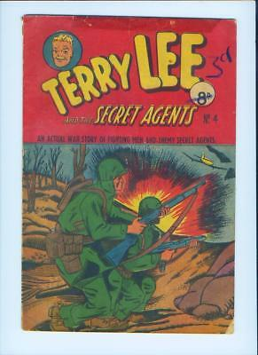 1940's Terry Lee And The Secret Agents No. 4 Comic Book