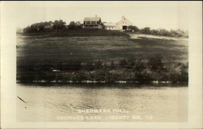 Liberty ME Shermans Hill Georges Lake c1920 Real Photo Postcard