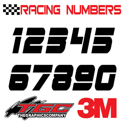 Racing Numbers Vinyl Decals Stickers boat car BMX bike off road sprint quad dnoi