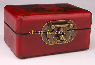 Red Leather Box Domino Exquisite Magic Collection